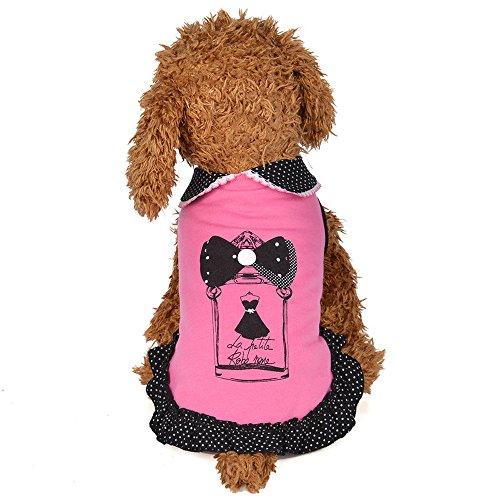 Pudel Rock Kostüm Für Hunde - Haustier Kleid,Hund Katze-Haustier-Kleid,Soft Rock Prinzessin Dress Kleidung Puppy Doggy-Kostüm,für Kleine Hunde, Welpen,Schnauzer,Teddy, Pudel,Chihuahua (Rosa, 14)