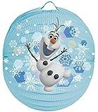Frozen Olaf Laternenset Ballon-Laterne mit elektrischem Laternen-Stab ca. 49cm und Papier-Lampion ca.25cm für Kinder