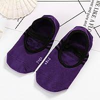 Apioffer Winter Frauen Runde Kopf Socken Back-Slip Rutschfeste Silikon Kanten Yoga Socken 1 Paar