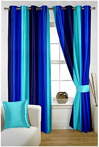 check MRP of plain blue curtains P Home Decor
