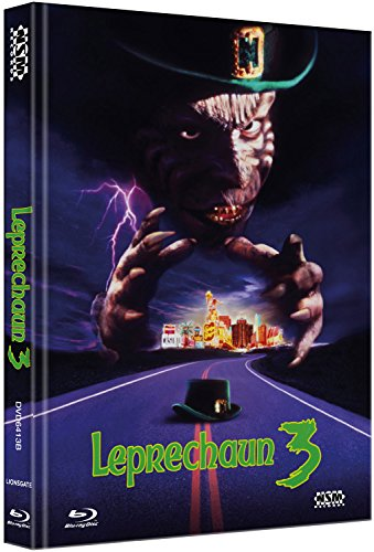 Leprechaun 3 - Tödliches Spiel in Las Vegas [Blu-Ray+DVD] - uncut - auf 333 limitiertes Mediabook Cover B [Limited Collector's Edition] [Limited Edition]
