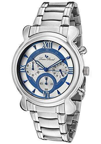 Lucien Piccard 28167bu–Montre de Poignet pour homme, bracelet en acier inoxydable couleur argent