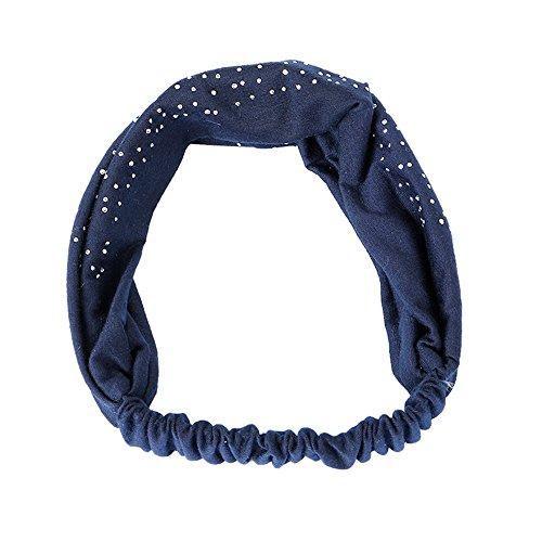 DOFENG Yoga Atmungsakti Stirnband Elastisch Haarband für Jugendliche und Erwachsene Haarband Einfache SüßE MäDchen Einfach Brief Bedruckt Elegant Sport (J-Navy, One size) -