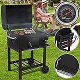 broil-master Barbecue à Charbon de Bois | Portable, avec Thermomètre de Température, Noir | BBQ de Jardin, Fumoir Grill, Smoker