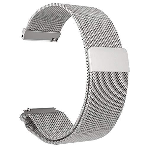 Zinniaya Correa de Reloj de Pulsera de Malla de Acero Inoxidable Reemplazo del Reloj de la Correa magnética para Xiaomi...