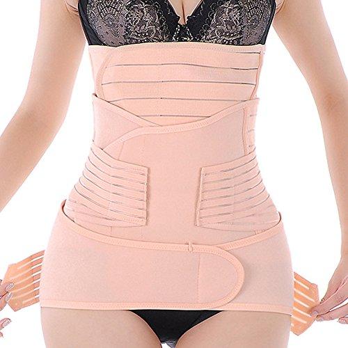 FeelinGirl Damen Bauchweg Gürtel Bauchband Gurt Nach Geburt Pelvis Correction Re-Shaping Slimming Belt Schlankheits-Gürtel L Rosa