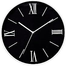 Foxtop Relojes de Pared Silencioso Grandes Originales Cocina Decorativas 12 pulgadas Relojes de Pared Números Romanos