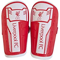 Liverpool FC Childrens/Kids Official Slip In Football Crest Shin Guards
