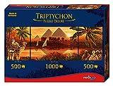 Noris Spiele 606031000 - Triptychon Puzzle Deluxe Pyramiden, 2000 Teile