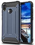 Coolden Honor 8X Hülle,Premium [Armor Serie] Outdoor Stoßfest Schutzhülle Tough Silikon TPU + PC Bumper Cover Doppelschichter Handyhülle für Huawei Honor 8X Smartphone - Blau
