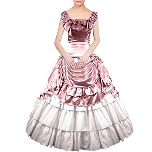 Nœud femme Motif Gothic Lolita sol Longueur de la robe Rose