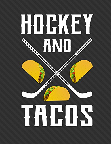 Hockey And Tacos Notebook - 5x5 Quad Ruled: 8.5 x 11 - 200 Pages - Graph Paper - School Student Teacher Office por Rengaw Creations