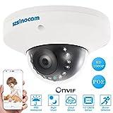 Szsinocam 1080P HD POE Cámara Domo IP 2.0MP 12 IR LEDs 1/3 '' CMOS H.264 P2P Onvif Resistente a Intemperie Apoyo Movimiento de Detección de Teléfono APP Control de Visión Nocturna para Seguridad CCTV