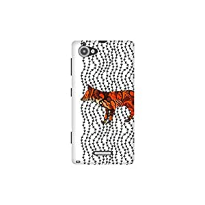 The Racoon Grip Imprint hard plastic printed back case / cover for Sony Xperia L