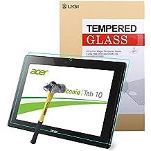 Acer Iconia Tab 10a3-a40, protector de pantalla, KuGi® Acer Tab 10a3-a40–Dureza 9H de alta calidad HD clara Protector de pantalla de cristal templado para tablet Acer Iconia Tab 10a3-a40 HD Clear For Acer Iconia Tab 10 A3-A40
