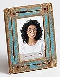Dupla Portraitrahmen 10x15 cm, blau/natur