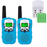 Talkie Walkie pour Enfants PMR 446 Talkies Walkies avec Batteries rechargeable et Chargeur Talky Walky Enfants Talkie-Walkies Talki Walki Flashlight VOX 8 Canaux 0.5W (1 Paire, Bleu)