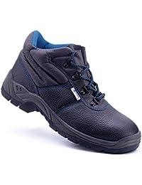 Safety Jogger BESTBOY - Zapatillas de ca?a alta de cuero unisex, color negro, talla 44