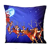 Decorie Happy Christmas Cartoon Father Cushion Cover for Room Home Decor (Style D)
