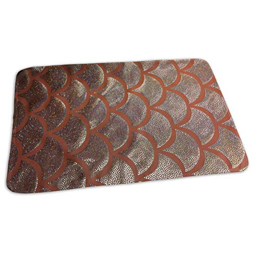 Voxpkrs Pink Gold and Silver Mermaid Scales Portable Changing Pad,Reusable Unisex Baby Soft Changing Mat with Reinforced Seams - Big W Mobile