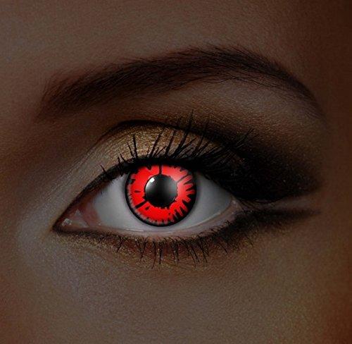 Funky Vision Kontaktlinsen I-Glow - 12 Monatslinsen, Volturi UV, Ohne Sehstärke, 1 (Rezept Kontaktlinsen)