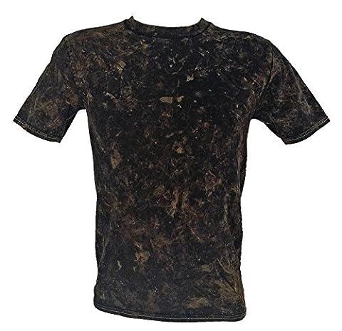 Tie Dye Bronze Acid Wash T-Shirt 3XL