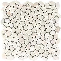 Mosaikfliesen Fliesen Mosaik K/üche Bad WC Wohnbereich Fliesenspiegel Naturstein Kiesel flach bunt Boden 8-10 mm Neu #270