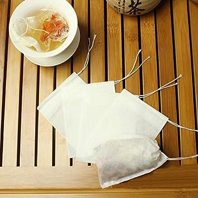 100pcs sachets à thé vides en Papier sachets Filtre à thé vides sachets à thé cordelette en Vrac Feuille sachets de thé infuseur jetable