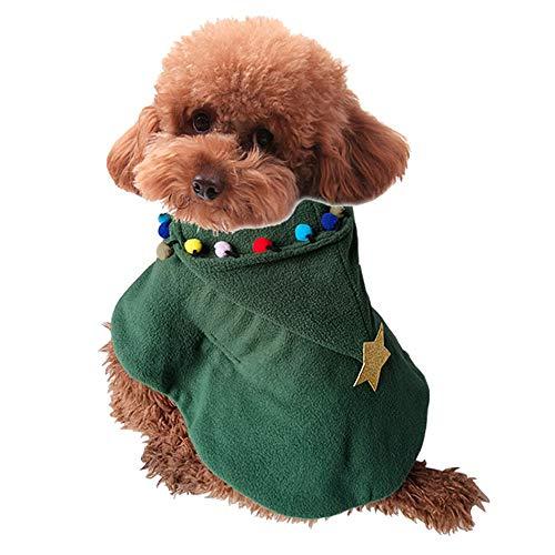 Yzibei Pullover Hund Weihnachten Hundebekleidung Hund Weihnachtsbaum Schal Herbst und Winter Kleidung Kleidung für Hunde (Größe : ()