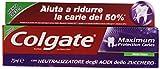 Colgate - Maximum, Dentifricio Con Fluoro E Calcio - 75 Ml
