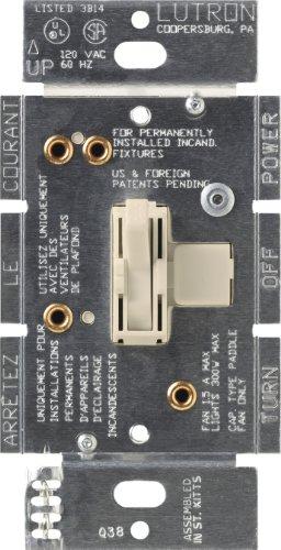 Lutron Ariadni 1,5A Single Pole 3. Speed Kombination Lüfter und Kontrolle der Licht, AY2-LFSQ-LA 300 wattsW, 120 voltsV (Lutron-licht-schalter)