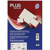 Plus Office 10676 - Etiquetas autoadhesivas de cantos rectos, 2400 eti/caja, 70 x 37 mm, blanco