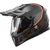 LS2Casque moto mx436Pioneer Element, Matt Black Titanium, L