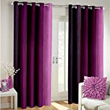 Best Epic Furnishings Beds - Epic CLASSICAL@Home Furnishing Polyester Plain Eyelet Door Curtain Review