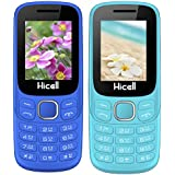 Hicell C9 Metro (Combo Of Two MOBILES) Dual Sim Mobile Phone With Digital Camera And 1.8 Inch Screen (LightBlue+NavyBlue)