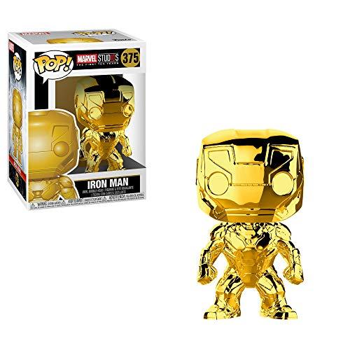 Funko- Pop Bobble Marvel Studios 10: Iron Man (Chrome) Figura Coleccionable, Multicolor (33434)