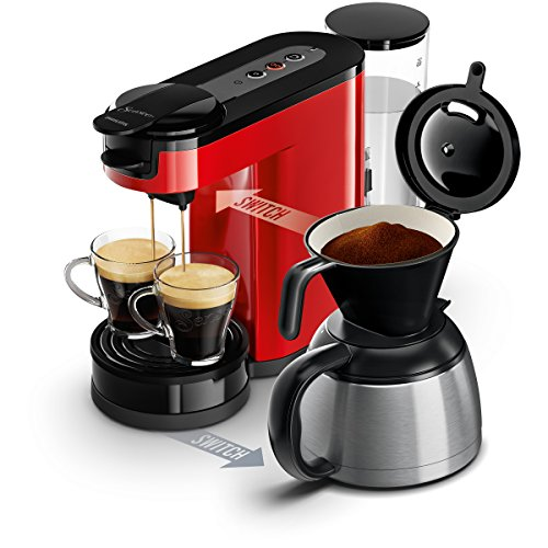 Senseo HD7892/80 Switch 2-in-1 Kaffeemaschine für Filter und Pads, Rot - 4