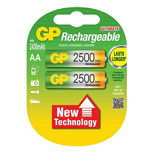 Godrej GP AA 2500 NiMH Rechargeable Battery  Pack of 2