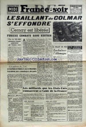 FRANCE SOIR [No 193] du 06/02/1945 - LE ...
