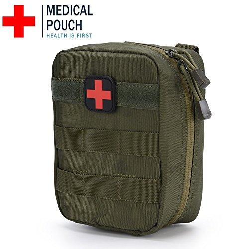 Erste Hilfe Tasche Leer Medizinische Tasche Taktische Rucksack Notfalltasche für Reisen Camping Wandern Radfahren Outdoor ( Farbe : Armeegrün )