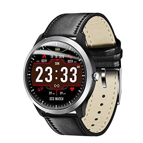 LRWEY Fitness Smart Watch, 1,22 Zoll-EKG-Anzeige Blutdruck-Pulsmesser 3D-UI-Tracker-Smart-Uhr für Android iOS