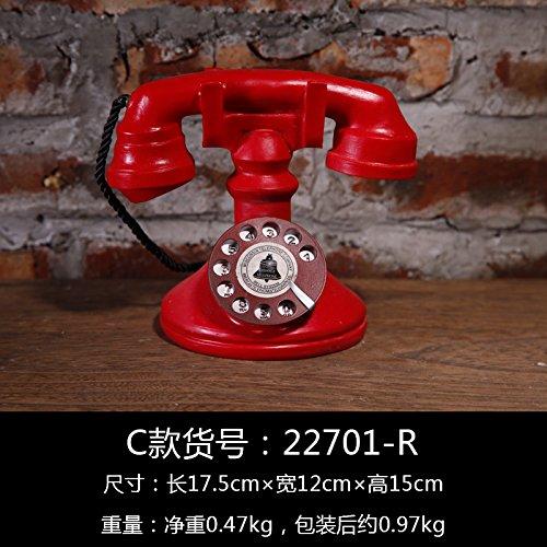 Lx.AZ.Kx Amerikanische kreative Modell kleinen Ornamenten Cafe Bar Wohnzimmer Retro Anzeige TV-Schrank Home Ornamente, C -