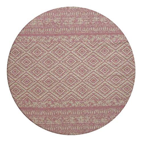 KADIMA DESIGN Teppich Sunny 110 Pink Ø 160cm RUND Sorgsam gearbeiteter Outdoor-Teppich. Besonders strapazierfähig. Im Innen- und Außenbereich verwendbar. -