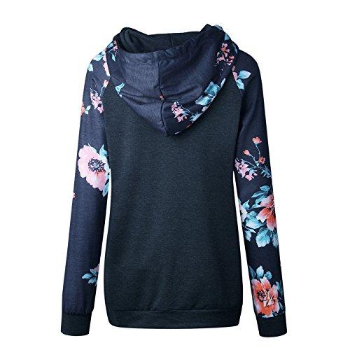 Yieune Sweats à capuche Femme Pull Hoodies Veste Oversize Jumper Automne/Hiver C-Gris