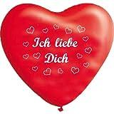 10 rote Herzballons ich liebe Dich, ca. 28 cm Durchmesser