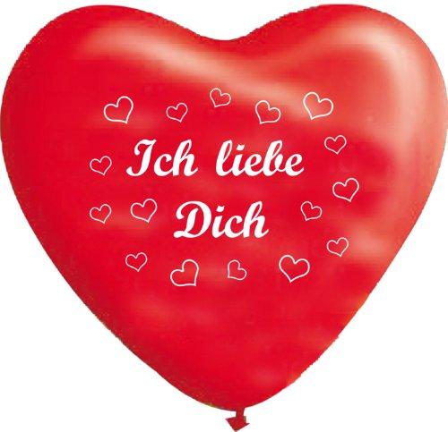 Unbekannt 10 rote Herzballons ich liebe Dich, ca. 28 cm Durchmesser (Dich-ballon Ich Liebe)