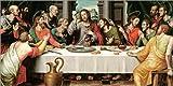 Posterlounge Leinwandbild 40 x 20 cm: Das letzte Abendmahl von Vicente Juan Macip - fertiges Wandbild, Bild auf Keilrahmen, Fertigbild auf echter Leinwand, Leinwanddruck