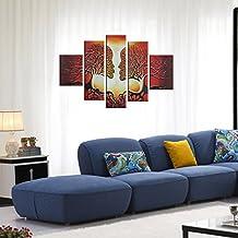 raybre art piezasset pintados a mano sobre lienzo cuadros modernos grandes pintura al leo rbol rojos pareja beso cuadros abstracto pinturas para