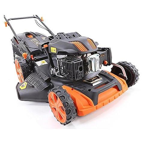 FUXTEC Benzin Rasenmäher FX-RM2060 mit 51 cm GT Selbstantrieb leistungsstarker 200 cc Motor Easy Clean 4in1 Motormäher