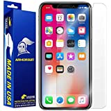 Armoursuit Apple iPhone X Screen Protector [Max Coverage] MilitaryShield Anti-Bubble Screen Protector for iPhone X - HD Clear